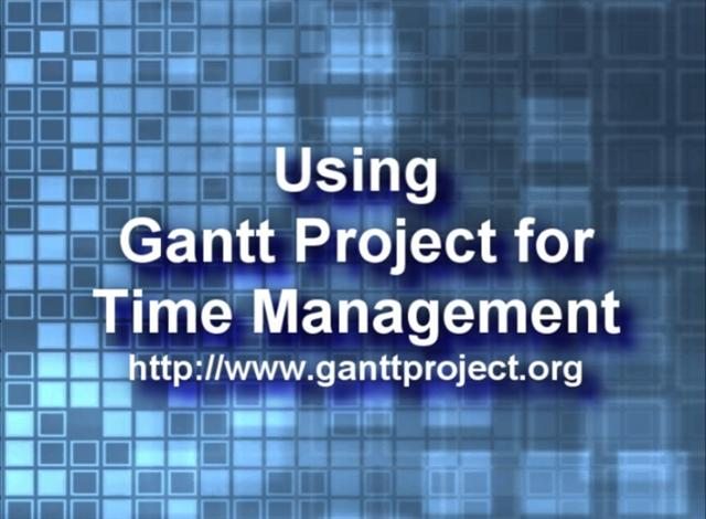 Using GanttProject